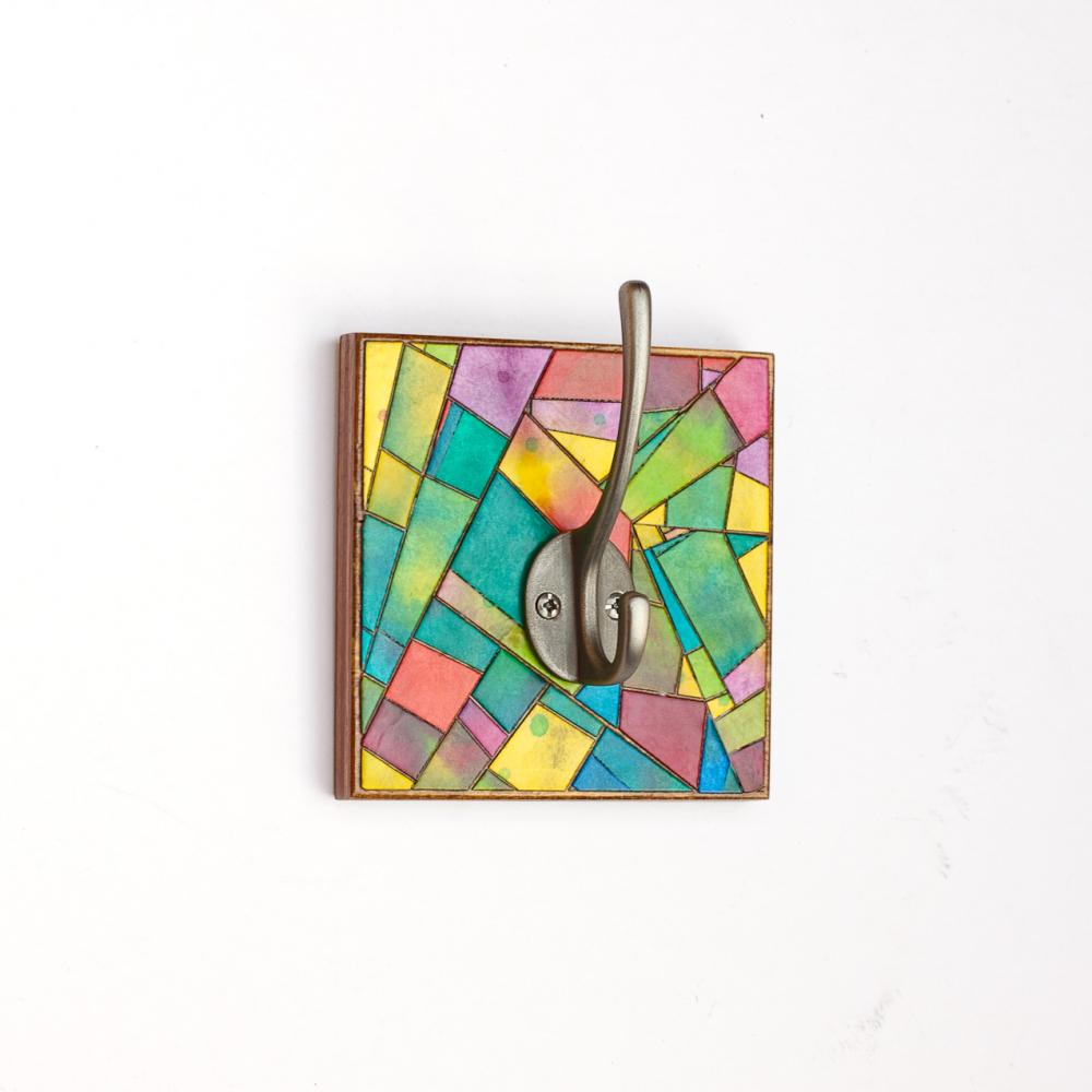Square Coat Hook Handmade Paper
