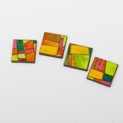 Handmade Paper Magnet Set