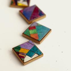 Magnets Stained Glass Handmade Paper