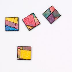 Mosaic Magnets Recycled Handmade Paper