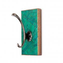 Single Wall Hook Handmade Green Paper